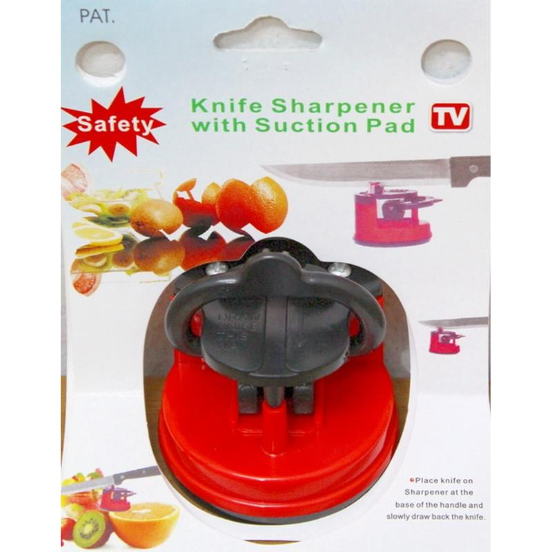 Knife Sharperner is its PowerGrip suction cup base