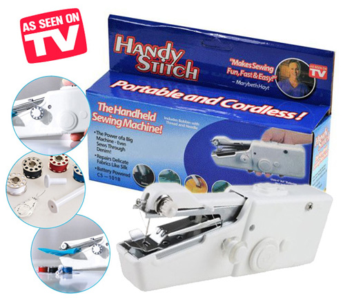 Portable Cordless Electric Sewing Machine Handheld Handy Stitch