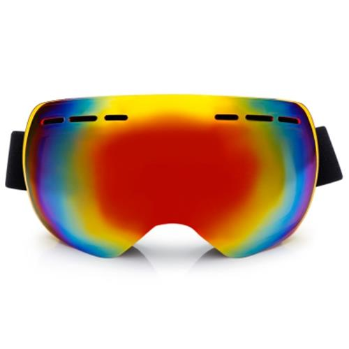 BF015 MOTORCYCLE GOGGLES FOR SKIING CLIMBING DOUBLE LENSES (RED)