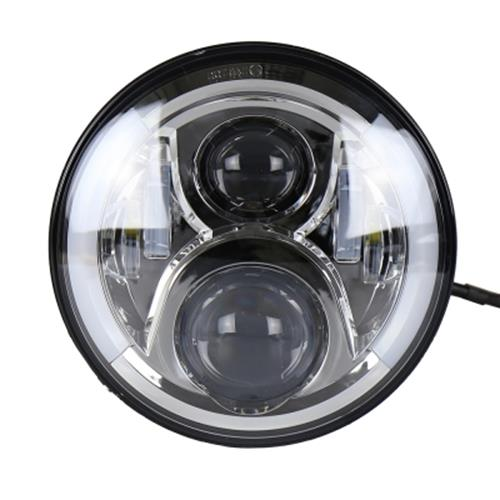 7INCH MOTORCYCLE LED HEADLIGHT INSTALL FOR HARLEY DAVIDSON HI AND LO BEAM LAMP LIGHT (SILVER)