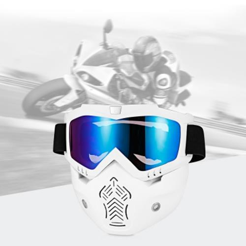 BOLLFO MT - 01 MOTORCYCLE MASK GOGGLES FOR MOTOCROSS SKIING (TRANSPARENT)