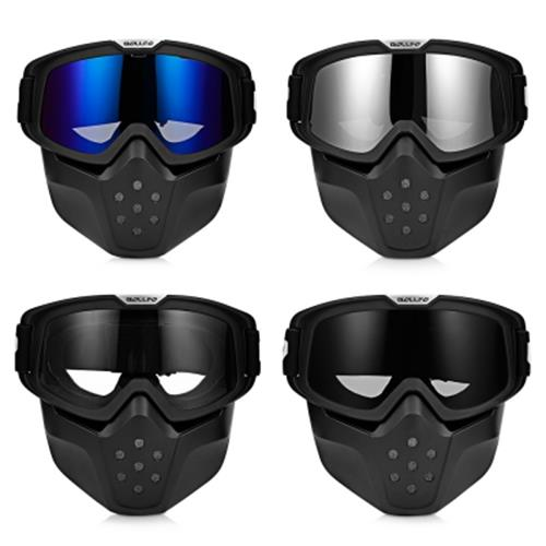 BOLLFO BF656 MOTORCYCLE MASK GOGGLES FOR MOTOCROSS RIDING (BLUE)