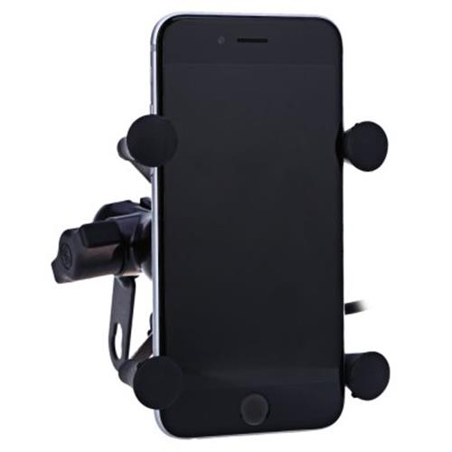 CS - 328 X TYPE UNIVERSAL MOTORCYCLE PHONE STAND HOLDER USB SOCKET POWER OUTLET CHARGER