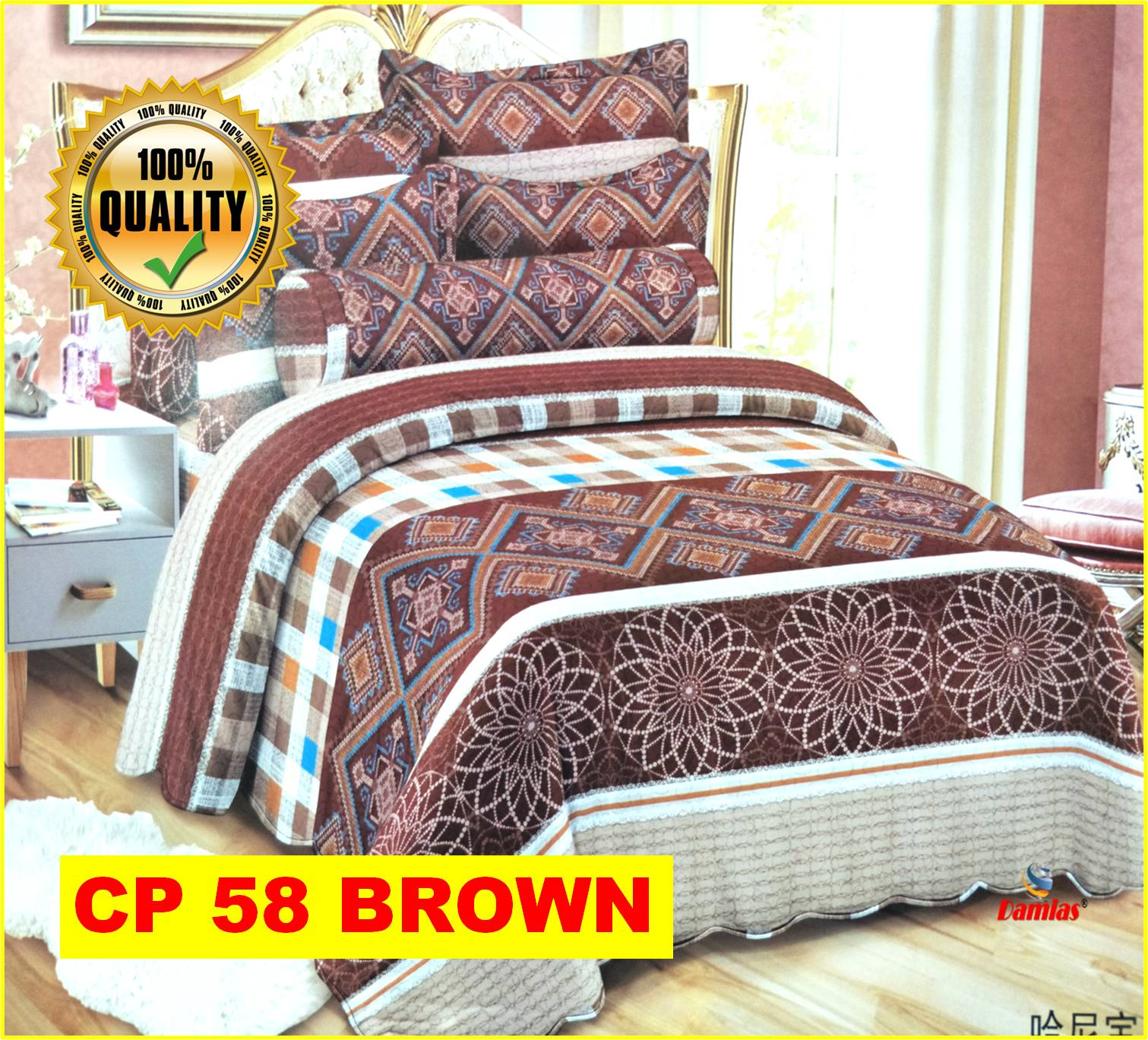 Cadar Patchwork Set 6 IN 1  Bed Sheet VOL 7 [ SUPER QUEEN ]