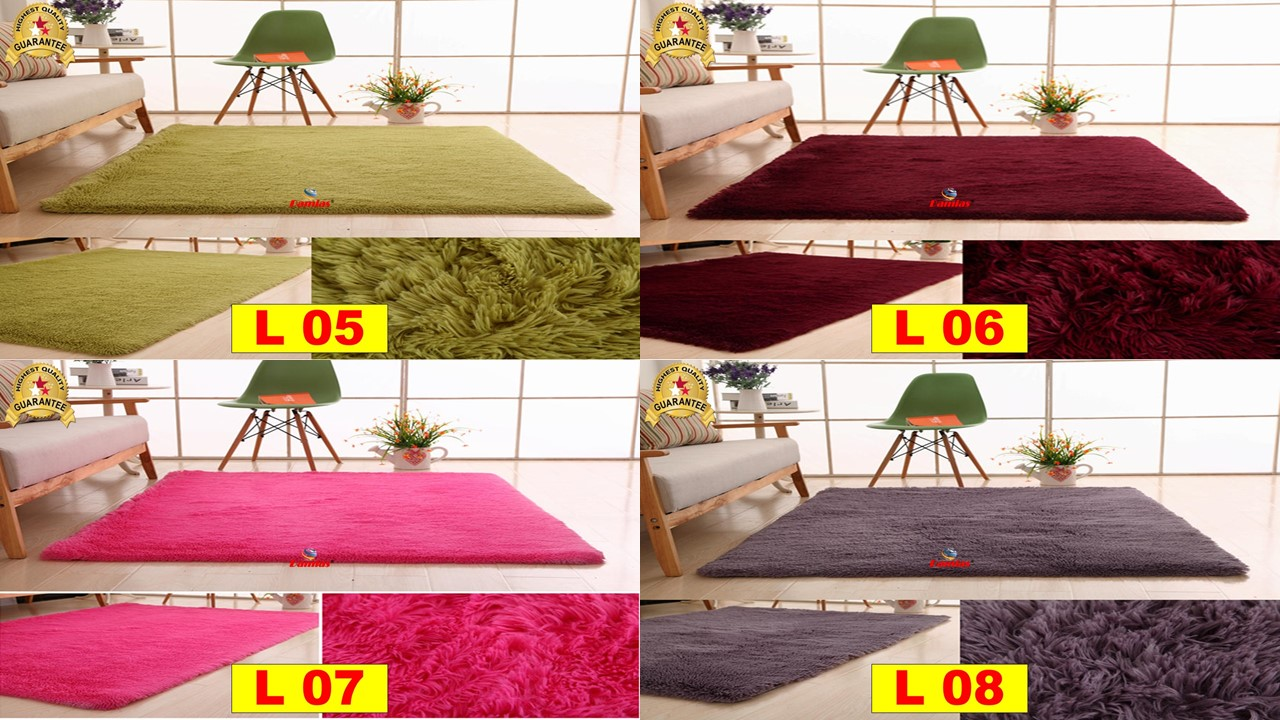 Soft Shaggy Carpet Floor Rugs karpet pelamin ( 110 x 160cm ) - L