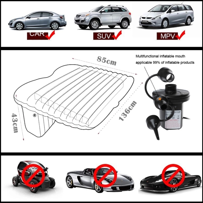 Inflatable Car Air Bed