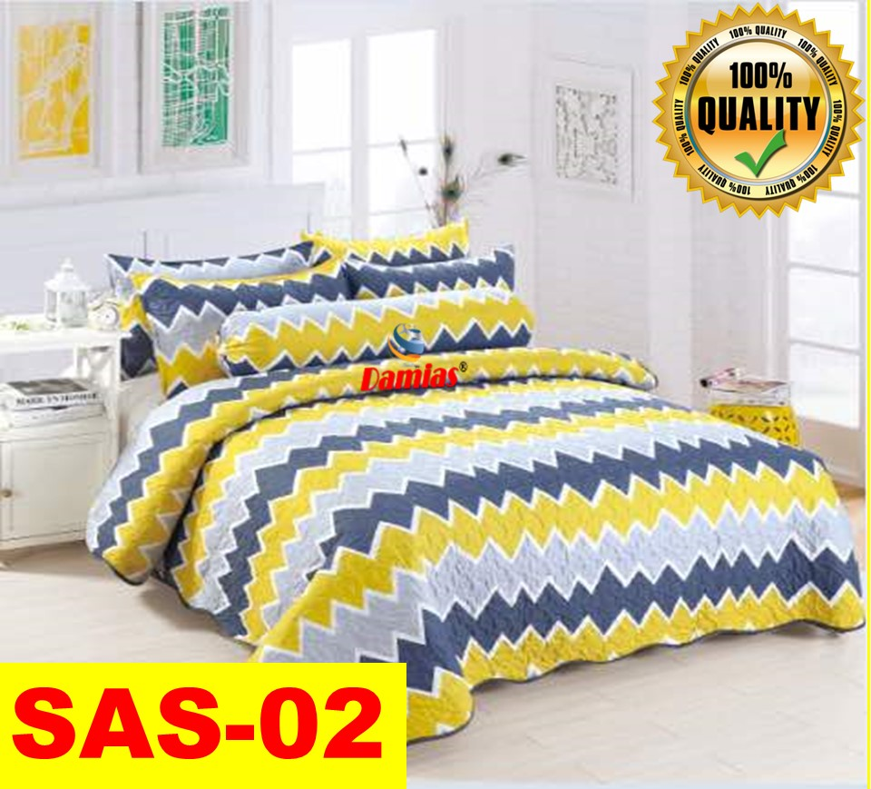 HOT! 6 In 1 Patchwork Modern 100%Cotton HQ ~650TC [READY STOCK]