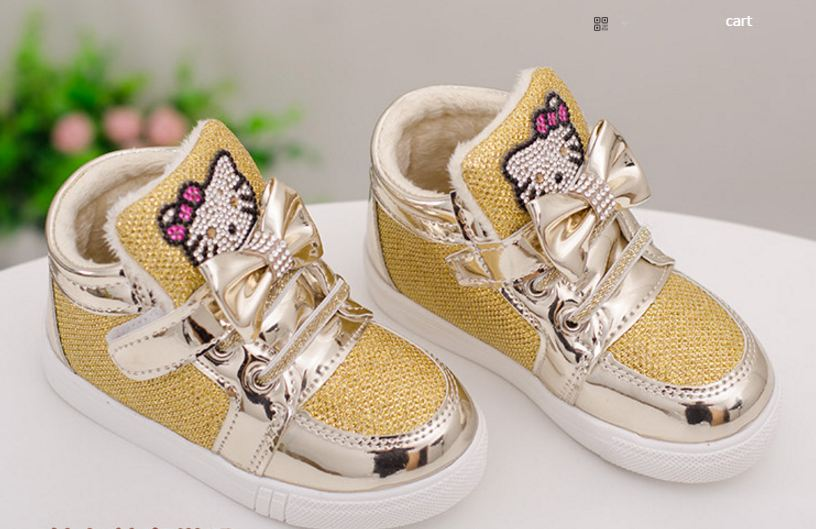 Hello Kity Kids Shoes GOLD
