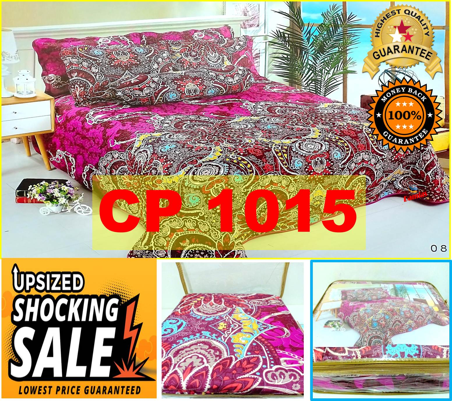 Cadar Patchwork Set 6 IN 1  Bed Sheet VOL 8 (ready to ship)