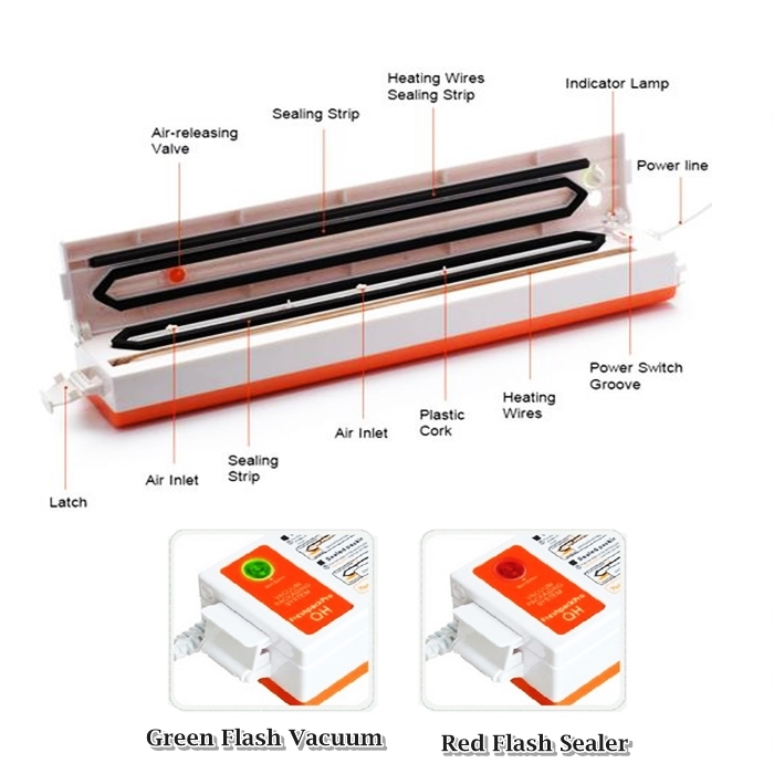 Automatic Electric Vacuum Food Sealer Machine (3 Pin Plug)