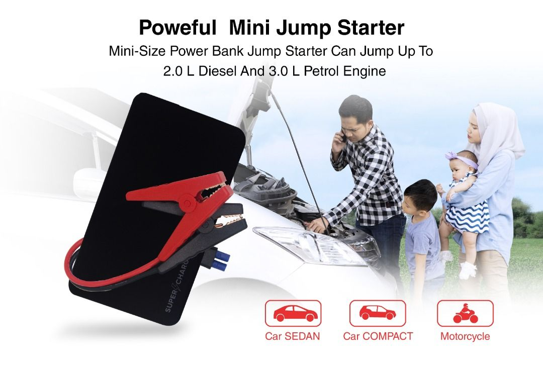 Supercharge Jumpstarter bersaiz powerbank - RAYMIN ORIGINAL