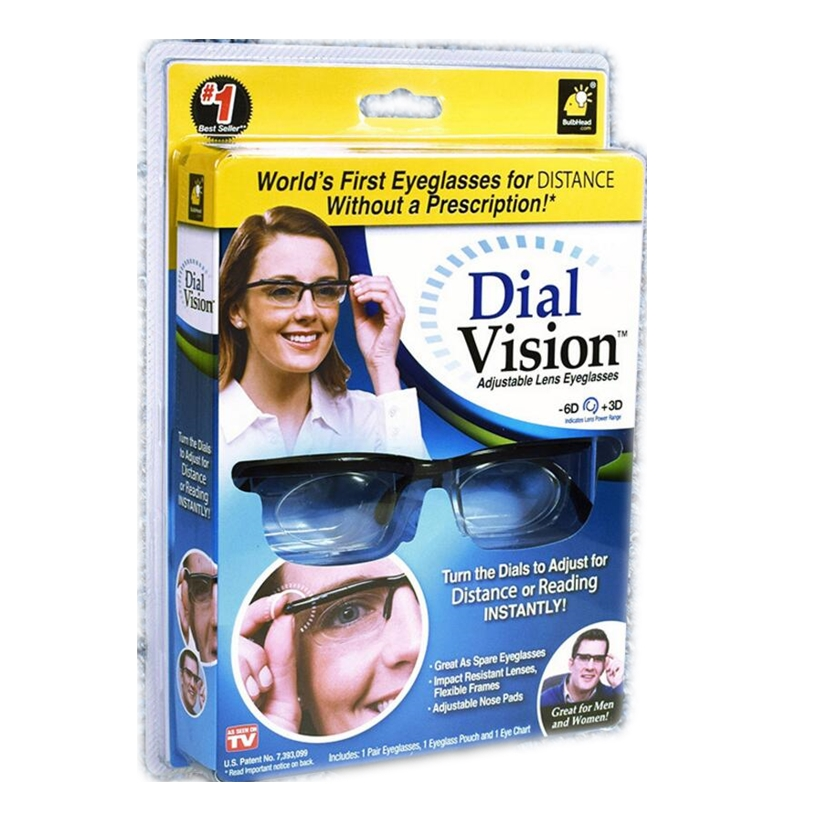 dial vision Adjustable lens Glasses Adjustable Dial Eye Glasses Vision Reader Glasses