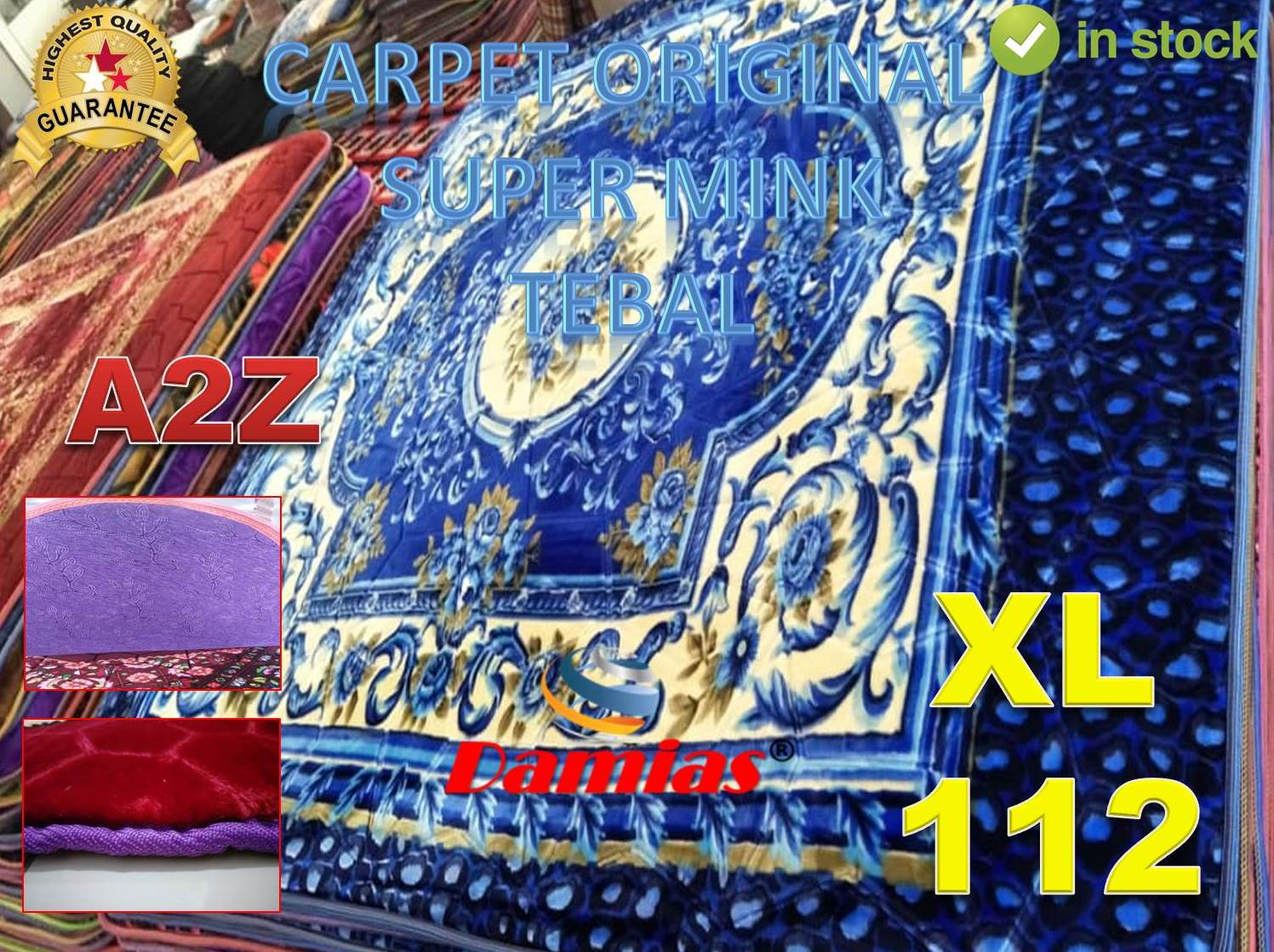 KARPET BALDU TEBAL CARPET 5D (2200MM X 1950MM X 20MM) XL - SIRI 50