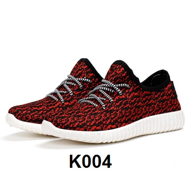Sport Cassual Shoes Abstrak Red/White K004