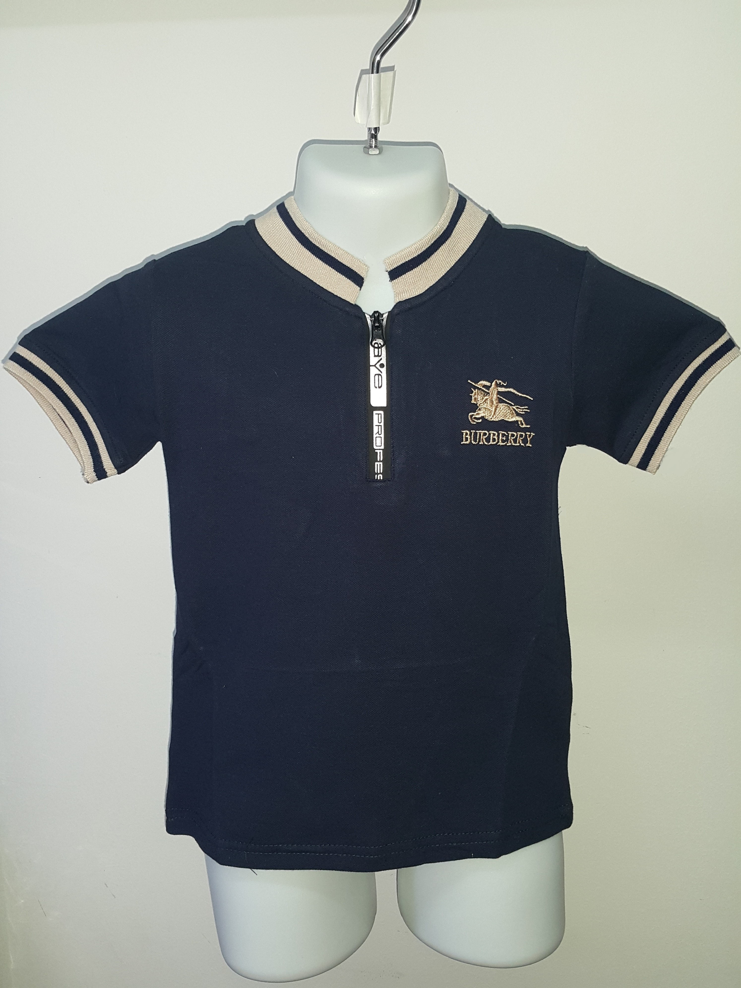 9ba5d1d75432 BURBERRY T-SHIRT FOR KIDS CS340 NAVY BLUE