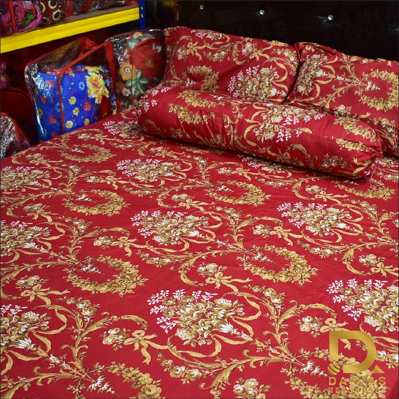 CADAR FITTED SET 5 IN 1 SAIZ KING 100% MATERIAL COTTON MODEN