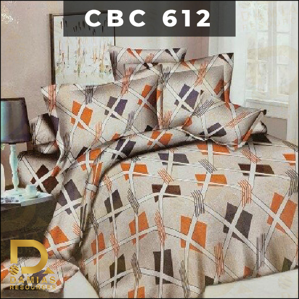 PATCHWORK BEDDING SAIZ QUEEN SET 6 IN 1 80% 20% COTTON TEBAL