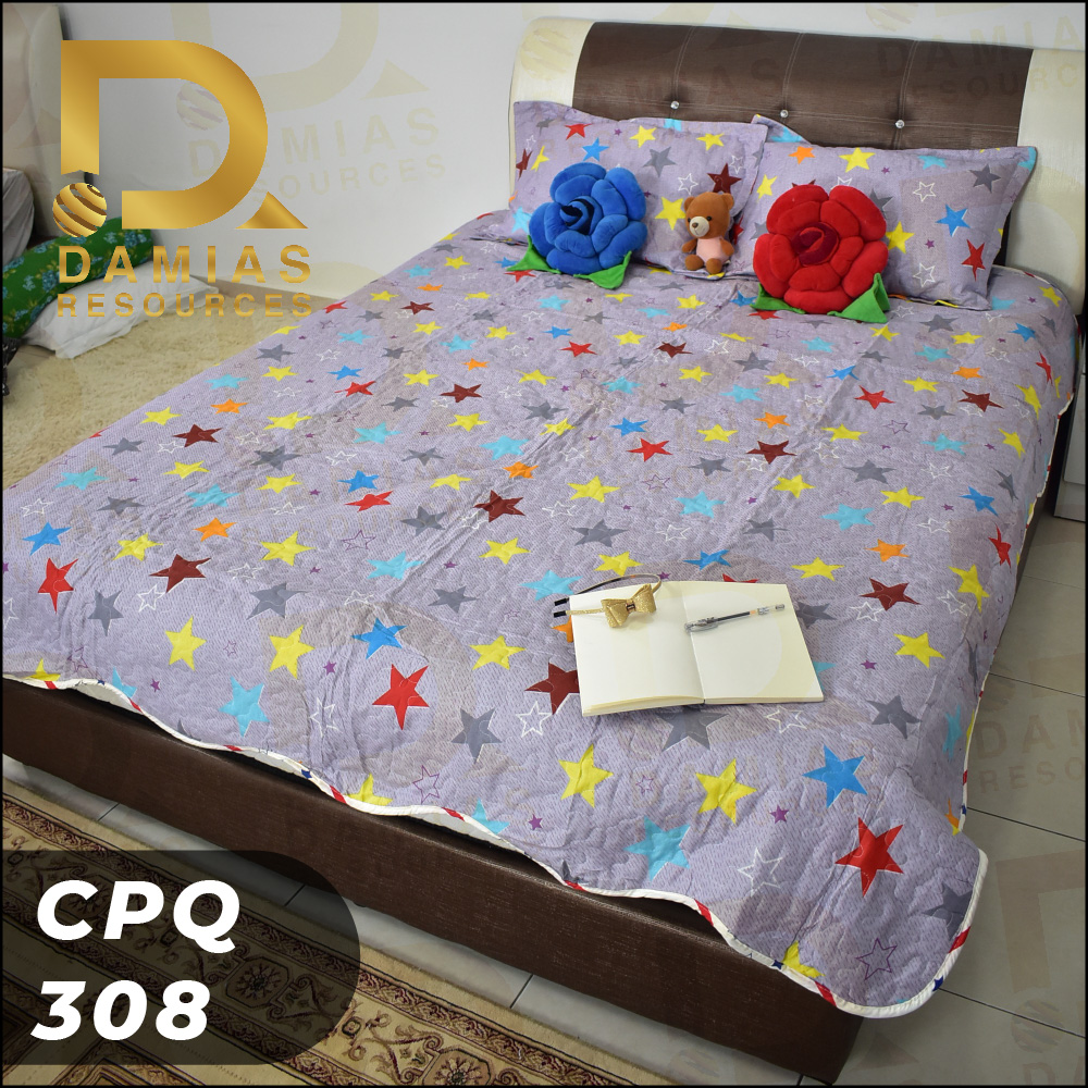CADAR PATCHWORK 3 IN 1 BEDDING SET TILAM SAIZ QUEEN