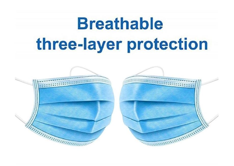 3PLY Surgical Face Mask GRED A dust-proof gas-proof droplets anti-fog haze