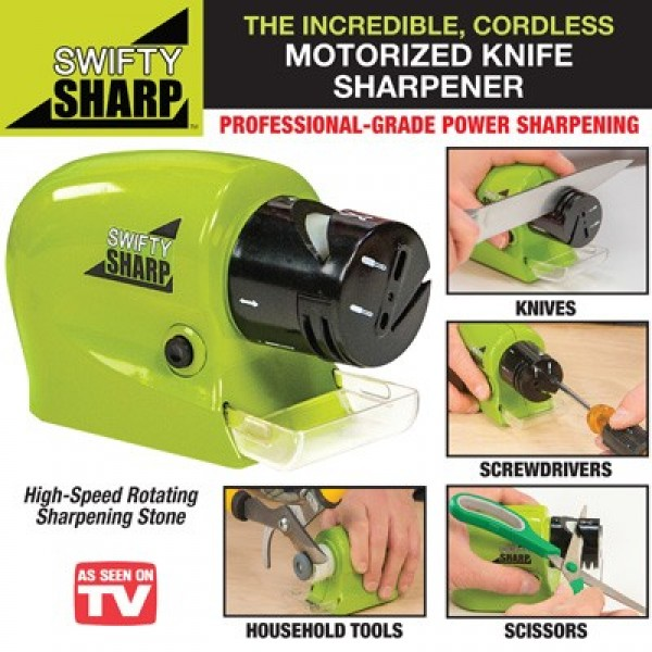 Swifty Sharp Cordless Motorized Knife Blade Sharpener