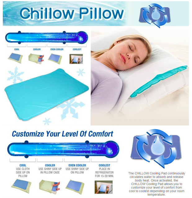 Chillow Pillow Cooling Pad Perfect Sleeping Reduce Heat