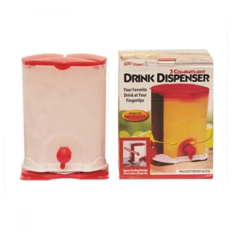 3 Rotating Compartment Water Drink Dispenser container Air