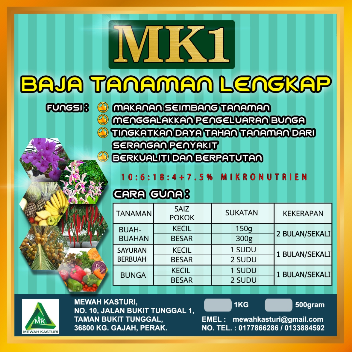 Complete fertilizer spray baja lengkap semburan mk 1 hight for Gardening tools malaysia