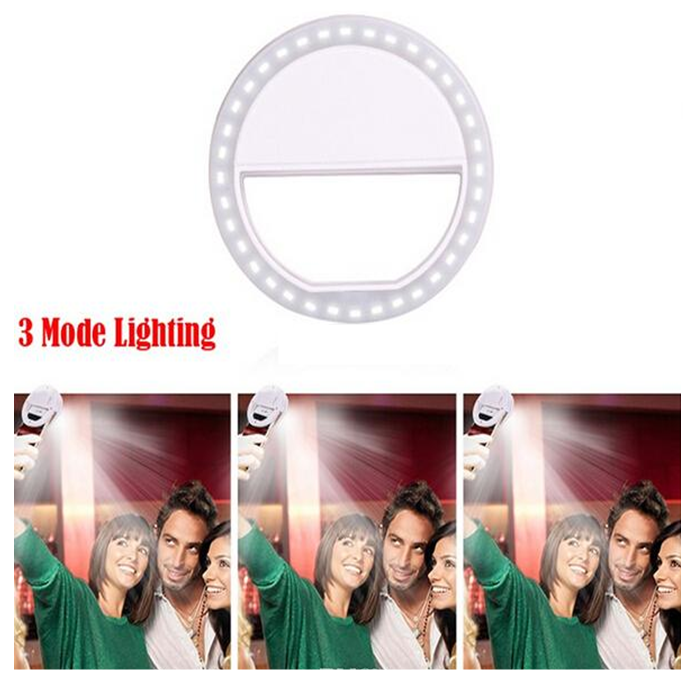Mini Portable Selfie Flash Light 36 Led For Phone with Batteries