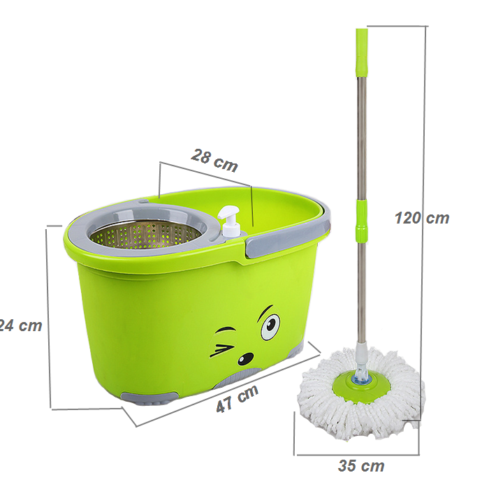 Sheep Spin Mop with Spin Dry Bucket